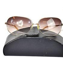 Oliver Peoples Galaxie Women's Gold Frame Gradient Lens Sunglasses W/ Case Photo