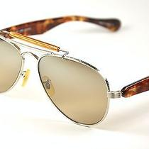 Oliver Peoples Teardrop  Brushed Silver/sand Quartz Polarized Photo