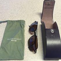 Oliver Peoples Victory 58 Vfx Polarized Sunglasses Birch/quartz Mirror Rare Photo