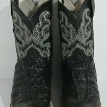 Oliverio Kids Sz 11.5 Usa 18.5 Mex Black Croc Print Leather Classic Cowboy Boots Photo