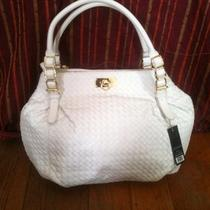 Olivia  Joy White Hobo Handbag Crossover Gold Detail Large New York Photo