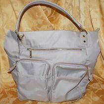 Olivia  Joy Zip Zoom Khaki Tote Computer Laptop Bag Travel Purse Handbag Tan Photo