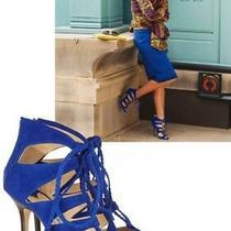 Olivia Palermo Jimmy Choo Gladys Suede Lace-Up Celebrity Sandal  Size 38 Photo
