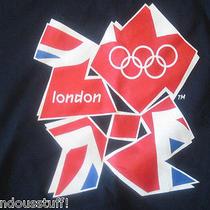 Olympic 2012 London Team Apparel Us Teamt Shirt  Dark Blue Size Xl Photo