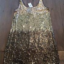 Ombre Metallic Gold Sequin Express Dress Photo