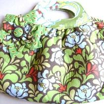One of a Kind Mod Retro Print Handbag Purse Bag Lime Aqua Photo