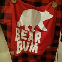 One Piece Bear Bum With Hoodie Plaid Red Black Mens Photo