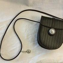 One World by Brighton Brown Woven Leather Small Messenger Mini Handbag  Photo