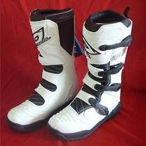 Oneal Mx Element Atv Motocross Dirt Bike White Boots Adult Size 13 - New (M06) Photo