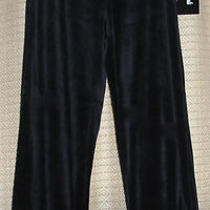 Onque Casuals Element of Style Womens Velour Pants Size S Color Black Nwt  Photo