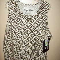 Onque Women Elements of Life Size 1x Nwt Gold/white Blouse   Photo