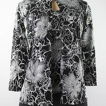 Onyx Nite 3/4 Sleeve Formal Jacket Blouse Set Black Silver Size S Lulu Photo