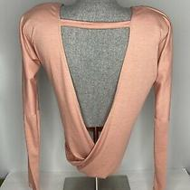 Onzie Hot Yoga Drapey v Back Top in Blush (Salmon) Size Small Photo