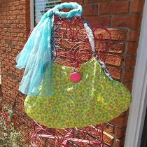 Ooak Lime Green Polka Dots Zebra Hand Bag Hobo Purse Recycled Purse Photo