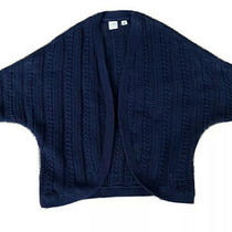 Open Front Cardigan Sweater Knit Navy Gap Kids Girls Size M 8 Batwing Sleeve Photo