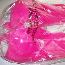 Open Toe Fuzzy Pink Slippers M 7-8 Photo
