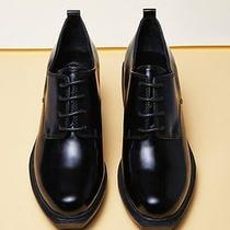 Opening Ceremony Black Leather Grunge Oxford Heels Size 10 Photo