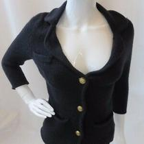 Opening Ceremony Black Long Sleeve Button Down Cardigan Sweater Size Xs Photo