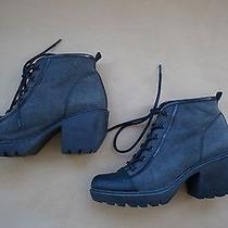 Opening Ceremony Canvas Grunge Sneaker Bootie Size 8 Women's Photo