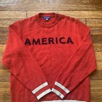 Opening Ceremony Knits Red America Sweater Small Womens Photo