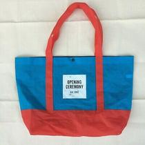 Opening Ceremony Tote Bag Blue & Red W/ Square Logo Extra Large Photo