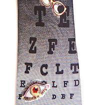Optometrist Eye Ball Chart Doctor Glasses Necktie Neck Tie Steven Harris Sleeved Photo