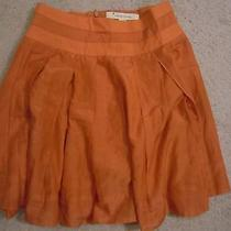 Orange a Line Skirt by Twenty One Size Small   Photo