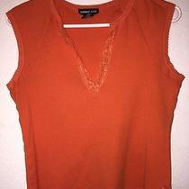 Orange Express Jeans Top  Photo