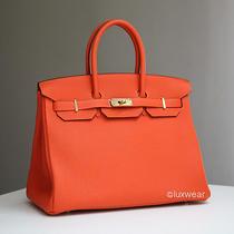 Orange Feu & Gold 35cm Hermes Birkin Bag  Photo
