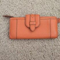 Orange Fossil Leather Wallet Photo