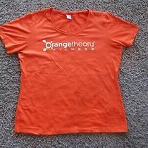 Orange Theory Fitness Polyester Blend Short Sleeve T-Shirt Women's Size M Photo