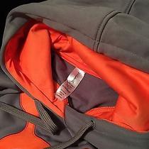 Orange Theory Fitness Women's Hoodie S Grey and Orange Embroidered Sweatshirt Photo