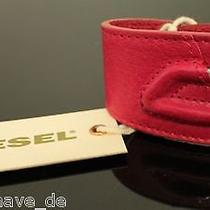 Org. Diesel Bracelet Red Wireba Bracelet 00c9d Leather Red Photo