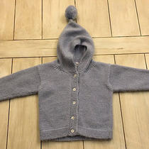 Orient Expressed Light Blue Hooded Acrylic Blend Cardigan Sweater  12 Months  Photo