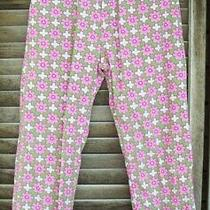 Orient Expressed Pink & Green Floral Corduroy Pantssize 6adjustable Waist Photo