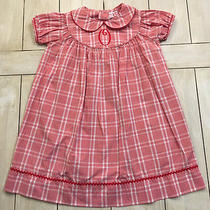 Orient Expressed Red White Plaid Dress  Monogram O  Size 3t  Photo