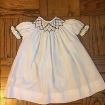 Orient Expressed Smocked Christmas Holiday Dress White 12m Girls Photo