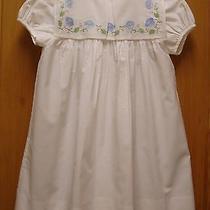 Orient Expressed White Dress W/ Lovely Collar 6 Euc Photo