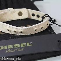 Orig. Diesel Bracelet Leather 00c9mu 00efg 20 Beige New Photo