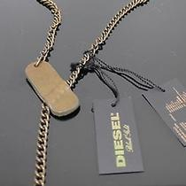 Orig. Diesel Necklace Chain Leather Chain Leather Chain Taupe Photo