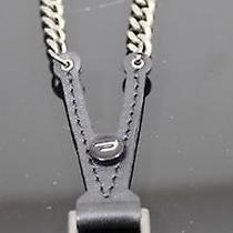 Orig. Diesel Necklace Chain Leather Chain Spechsol Collana Black Photo