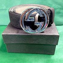 Original Brown Gucci Belt Size 33-34 Photo