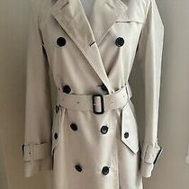 Original Burberry Prorsum Trench Coat Women Beige Size 2 Photo