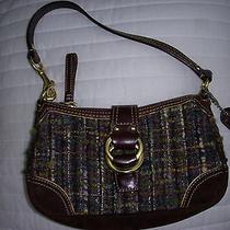 Original Coach Chelsea Boucle Demi Bag Tweed & Leather - Euc Photo
