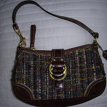 Original Coach Chelsea Boucle Demi Bag Tweed & Leather - Euc Photo