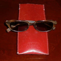 Original Coach Sunglasses S403 Horn 52-18-142 With Red Leather Case Made Japan Photo