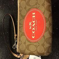 Original Coach Wrist Wallet With Logo Photo