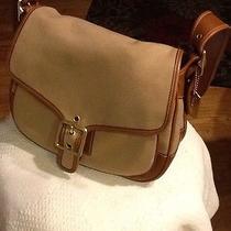 Original Khaki Canvas/leather Coach Purse  K13-9122 Photo