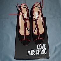 Original Moschino Platform Shoes With Box Genuine Leather Photo