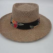 Original Panama Jack 100% Natural Fiber Hat Size L/xl With Tropical Band  Photo